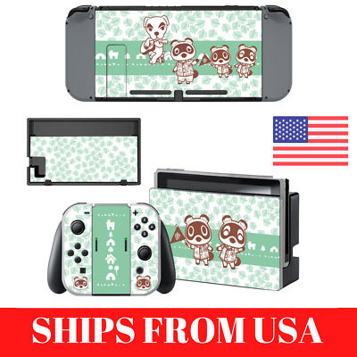 Animal Crossing Nintendo Switch Console Skin Tom Nook Store Set