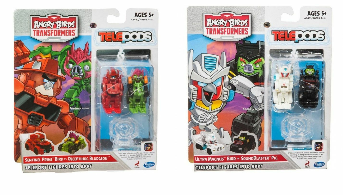 2x Telepods Angry Birds Transformers Ultra Magnus VS Sound Blaster + Sentinel PR