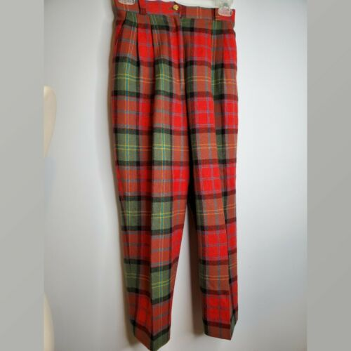 Vintage Joe Phillips Red And Green  Plaid Wool Pa… - image 1
