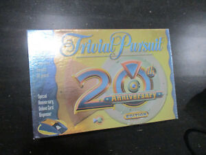 NEW-Trivial-Pursuit-20th-Anniversary-Edition-Board-Game-Family-Fun-Night-SEALED