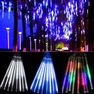 20cm-30cm-180-144-LED-Lights-Meteor-Shower-Rain-8Tube-Outdoor-Light-Xmas-Tree