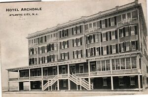 Vintage Postcard - Posted 1908 Hotel Archdale Atlantic City New Jersey NJ #3338