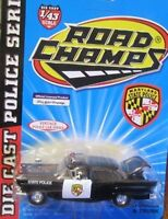 Road Champs Vintage Police Car Series Alabama Highway Patrol 1957 Ford 1 43 Toys