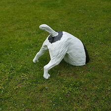 grabender Hund Garten Deko Figur Jack Russel Terrier buddelnder halber Hund