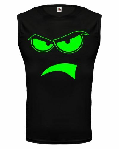 Muskelshirt ärmellos Tank Top Angry Face wütend zornig verärgert böse sauer