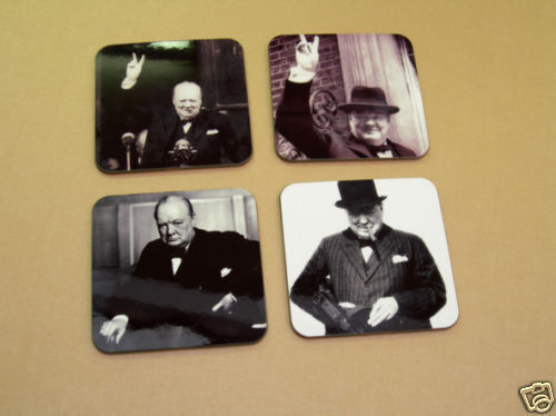 Winston Churchill British Prime Minister Coaster Set