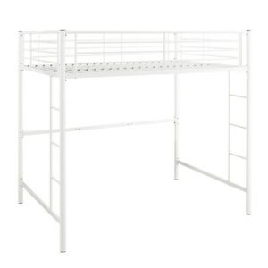 Premium-Metal-Full-Size-Loft-Bed-White