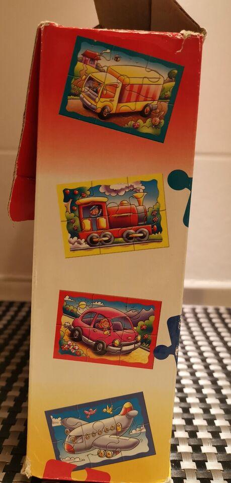 Børne transport puslespil med store brikker., puslespil