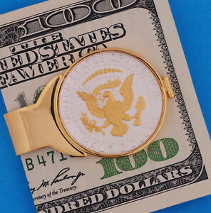 Half Dollar Money Clip Eagle Kennedy USA 50¢ Gold-Silver Patriotic Men Coin Gift