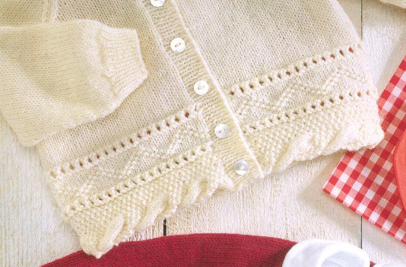 """Baby//Toddler Cardigan Duck Motif Aran  26/"""" 31/""""  Knitting Pattern"""