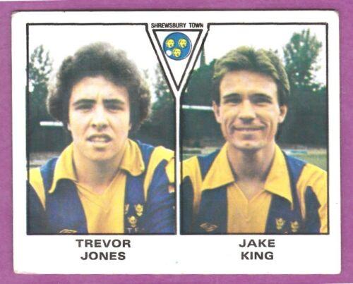 JAKE KING PANINI FOOTBALL 80 #483-SHREWSBURY TOWN-TREVOR JONES
