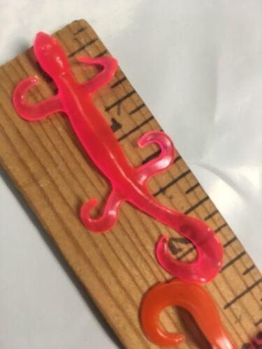 "20pk Trout Pink Tiny Salamander 2.25"" Custom Baits Trout Fishing Lure Worm Grub"