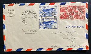 1949 Lolodorf Cameroon Missionary Airmail Cover to Irvington KY USA