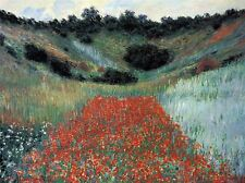 CLAUDE MONET POPPY FIELD IN GIVERNY OLD ART PAINTING POSTER 579OMLV