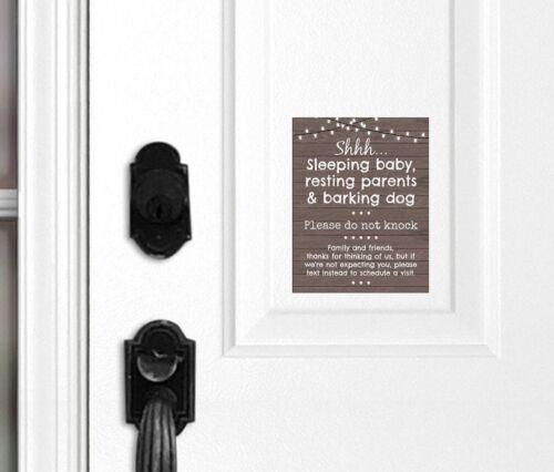 No Soliciting Door Sign Do Not Knock Barking Dog Sleeping Baby Door Magnet
