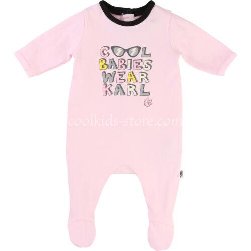 KARL LAGERFELD KIDS Baby Strampler rosa mit bunten Lettern 56 62 68 74 80  NEU