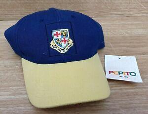 BASEBALL-CAP-Navy-Blue-Yellow-Cotton-Twill-One-Size-St-John-039-s-College-Durham
