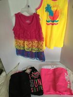 Girls Lot Clothes Summer Size 6/6x 4 Pieces Tops Swim Shorts