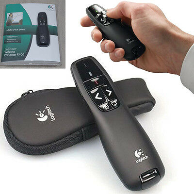 Professional Wireless For Logitech R400 Receiver PPT Presenter Red Laser Pointer