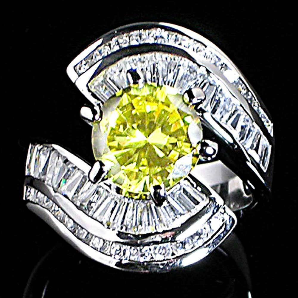 CONTEMPORARY_BRILLIANT YELLOW & CLEAR CZ RING_SZ-10