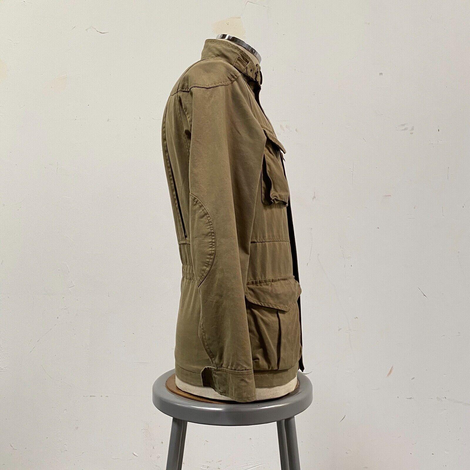 J.Crew Field Jacket Size XS Brown Wax Distressed - image 5