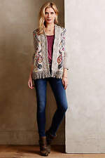 ANTHROPOLOGIE Sleeping on Snow Folklore Embroidered Cardigan Sweater NWT Sz. M