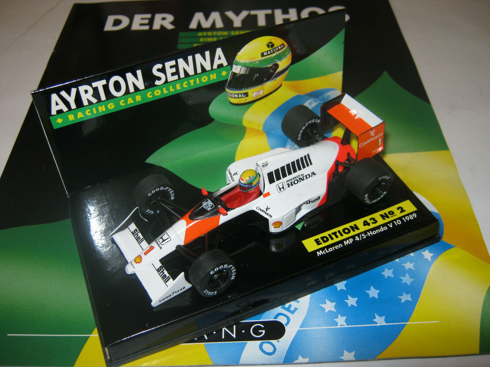1 43 McLaren Honda MP4 5 A. Senna 1989 Nr. 2 Senna Collection MINICHAMPS OVP