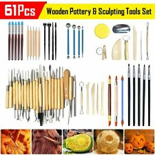 Clay Pottery Wooden Handle Ceramic Clay Pottery Modeling Clay Tools Set for Professional Art Crafts Wax Carving Shapers VEGCOO 6Pcs Clay Sculpting Tools Kit Sculpture