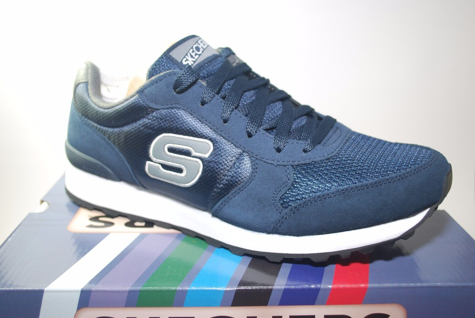 SKECHERS Mens OG 85 Early Grab - Navy/Grey Width Med FASHION Running Price reduction