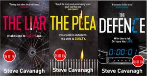 Steve-Cavanagh-3-Livre-Ensemble-The-Liar-The-Plea-The-Defence-Tout-Neuf