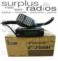 Icom Ic-2300h 05 Vhf 144-148mhz 2m 65w Mobile Ham Radio 207 Channel