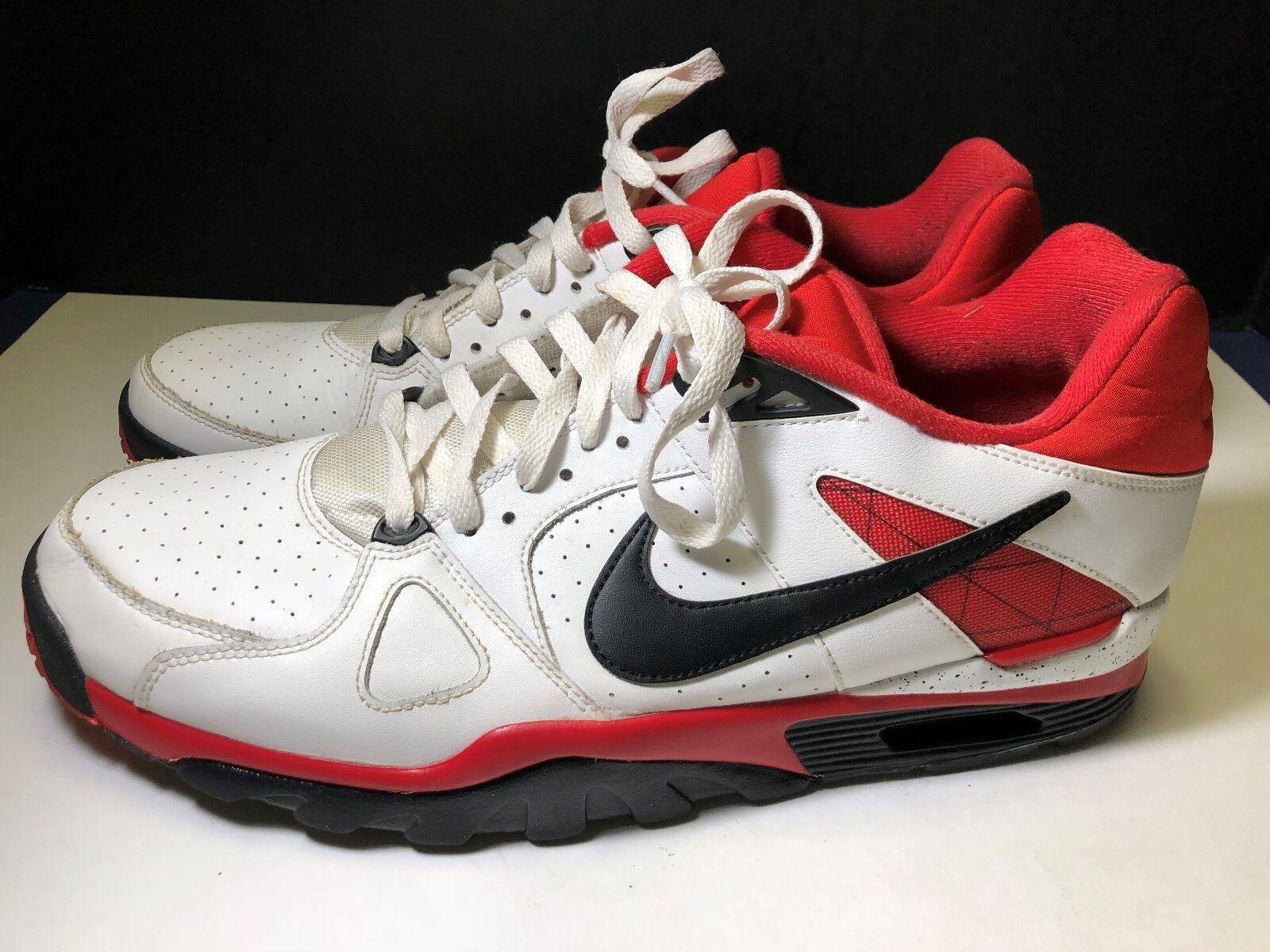 Hombre Nike Air Trainer rojo Classic Bo Jackson blanco rojo Trainer negro 488059-106 SZ 13 venta de liquidacion de temporada bca21b