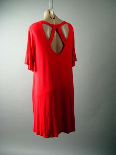 Red Casual Jersey Knit Made in USA Flare Swing T-Shirt 283 mv Dress 1XL 2XL 3XL
