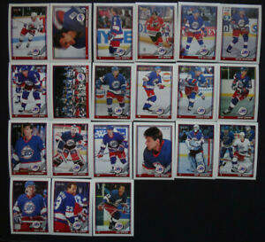 1991-92-O-Pee-Chee-OPC-Winnipeg-Jets-Team-Set-of-21-Hockey-Cards
