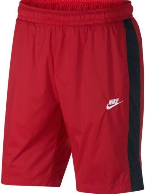 0ed33762d226f Mens Nike Sportswear Woven Core Track Shorts 927994-657 Red/Black Brand New  Sz