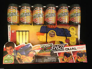 XShot Dual Dart amp Disc Blaster Pack Shootout Set Brand New in Box - <span itemprop=availableAtOrFrom>Ilkley, United Kingdom</span> - Buyers have a permitted 'cooling-off' period of up to 7 working days after the date of delivery, permitting that the items(s) is unopened/unused. In the event of a return, the buyer is req - Ilkley, United Kingdom