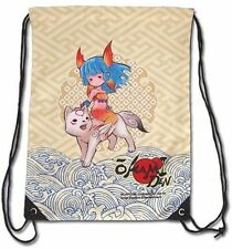 *NEW* Okamiden Chibiterasu & Nanami Drawstring Bag new gym travel bag cute