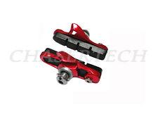 New Chaser Road Bike Cartridge Brake Pads Shoes Shimano Caliper Red 1 Pair
