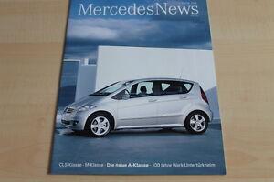 Offen 107250 Mercedes News 2004 M-klasse Cls Mercedes A-klasse W169