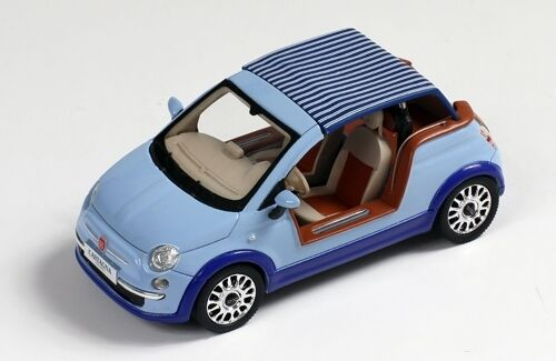 Fiat 500 tender two 'castagna Milano' 2008 Light blu 1 43 Model Premiumx