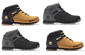 Timberland-Men-039-s-Euro-Sprint-Hiker-Leather-Hiking-Boots-Wheat-Black-Gray