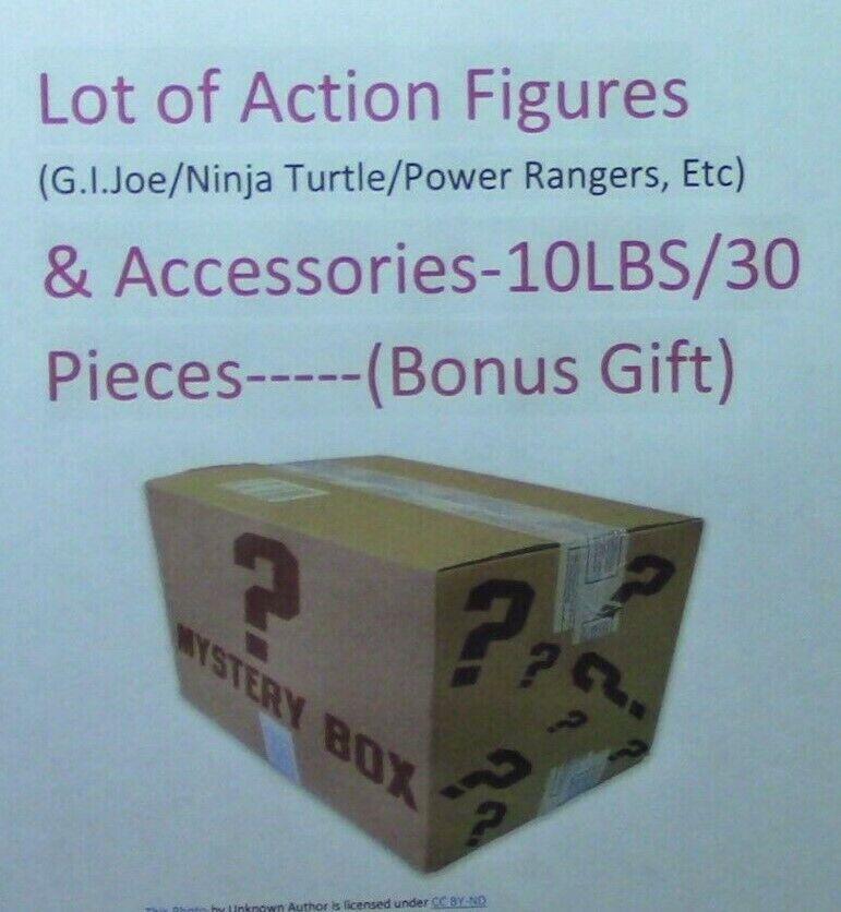 Lot of  Action Figures & Accessories, 10LBS 30 Pieces (Bonus Gift)