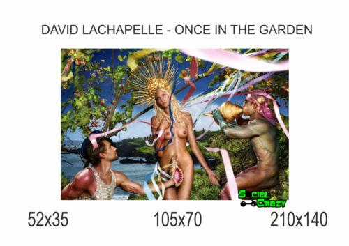 DAVID LACHAPELLE ONCE IN THE GARDEN Stampa su Tela Canvas 100/% QUALITà ITALIA