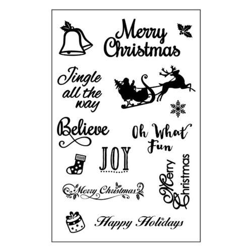 14 idéal pour Cartes et Artisanat Crafts Too Noël Effacer Timbres traîneau