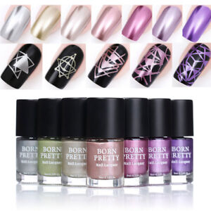 Born Pretty 9ml Mirror Metallic Nail Polish Rose Gold Silver Chrome Nail Varnish Ebay