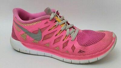Nike Free 5.0 GS Hot Pink Orange Yellow Girls 5 Youth 64446 600 Sneaker Shoe Kid | eBay