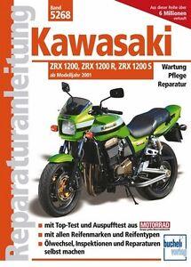 Kawasaki-ZRX-1200-R-S-Reparaturanleitung-Reparaturbuch-Reparatur-Handbuch-Buch