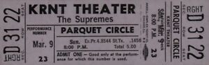 THE-SUPREMES-1969-TOUR-UNUSED-KRNT-CONCERT-TICKET-DIANA-ROSS-NM-2-MINT-No-5