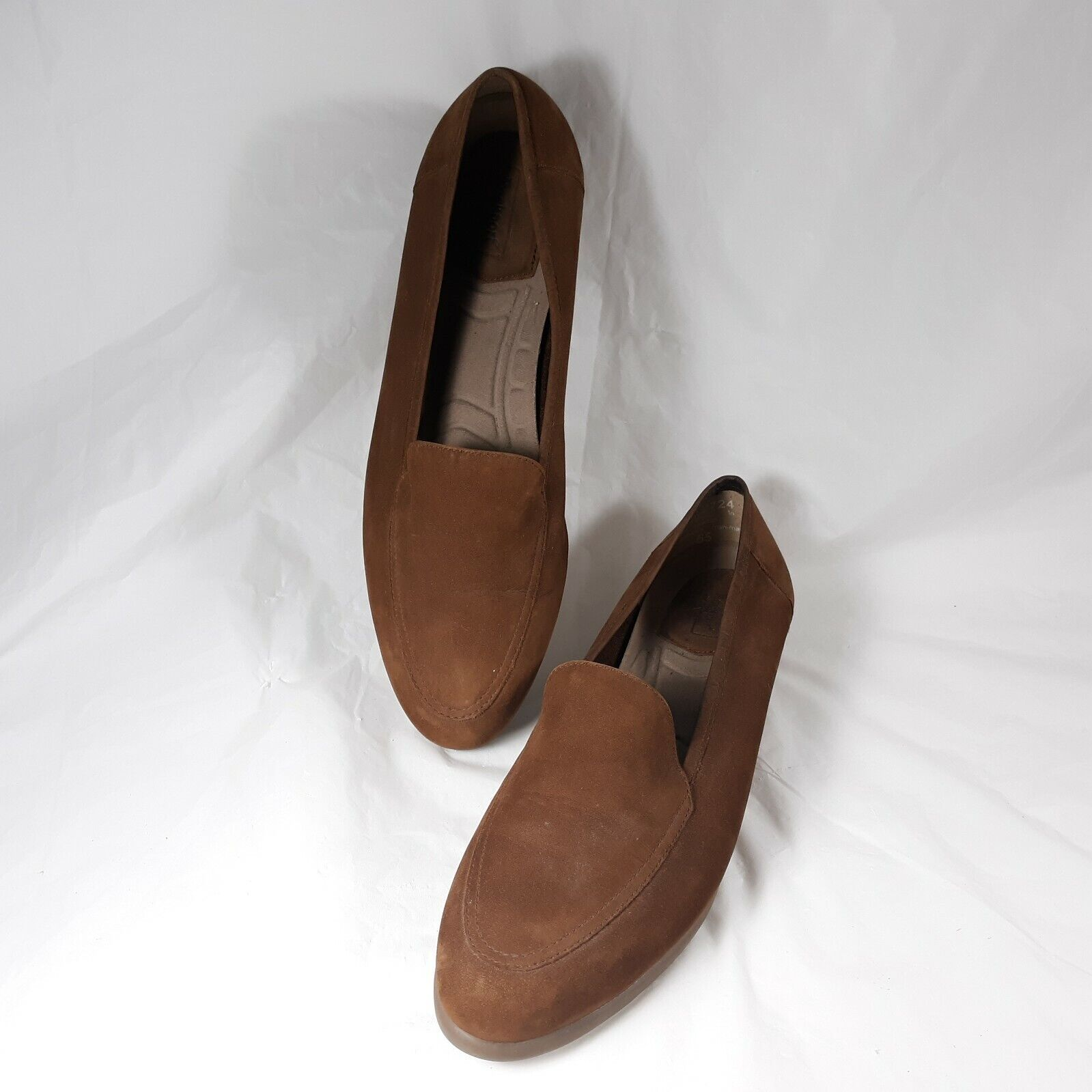 Rockport Brown Loafer Size Womens 8N Leather Upper