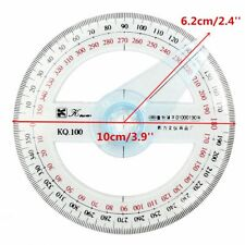 Buy Plastic 360 Degree Protractor Ruler Angular Viewer Swing Arm